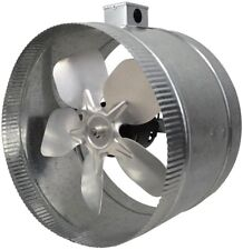 12 IN Inline Duct Fan Ventilation Accessory Universal 4 Pole Booster Exhaust N