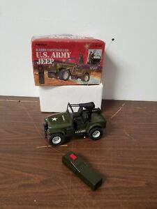 Vintage Radio Shack GI Joe R/C Radio Control U.S. Army Military Jeep Works