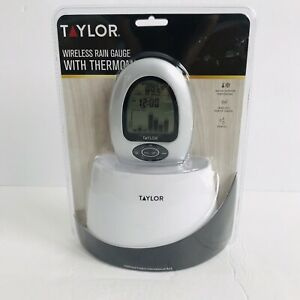 Wireless Rain Gauge Thermometer Taylor 2755 Brand New Sealed Indoor Outdoor Temp