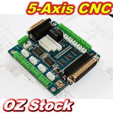 5 Axis MACH3 CNC Breakout Board Interface for Stepper Motor Driver OZ Seller