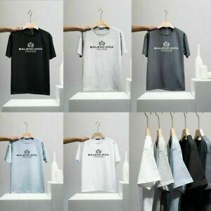 Balenciaga² T-Shirt Mode T-Shirt Rundhals Kurzarm Hemd Freizeit Herren Damen Top