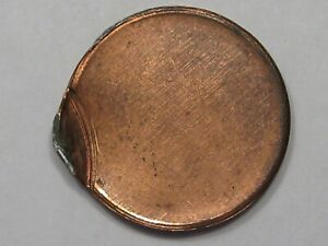 ERROR Coin: Blank Planchet No Date Off-Center US Lincoln Penny.  #1