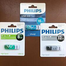 PHILIPS 8 GB 16 GB 32 GB Vivid HIGH SPEED USB Flash Drive Memory Stick Pen Drive