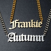 Custom Name Necklace Personalized Pendant Necklace Gold Jewelry Gift for Her Him
