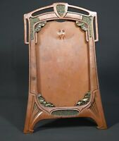 1900 Art Nouveau Copper Plated Britannia Metal Photo Picture Desk Cabinet Frame
