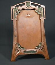 1900 Art Nouveau Copper Plated Britannia Metal Photo Picture Desk Cabinet Frame