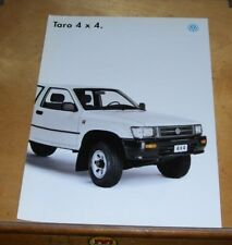 VOLKSWAGEN TARO 4x4 PICK-UP SALES LEAFLET. October 1994. In French.