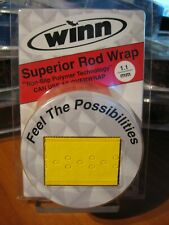 "Winn Grips 96"" Superior Fishing Rod Wrap OverWrap Ow11-Yl Solid Yellow"