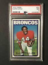 1972 Topps Football Card Floyd Little #50 PSA GRADED NM 7