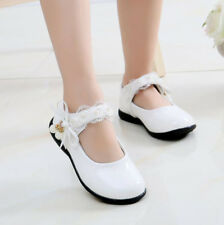 2017 Autumn Kids Girls Lace Flowers Formal School Party Wedding Dress Shoes