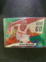 Russell Westbrook 2019-20 Panini Mosaic Give and Go Green Prizm #11 ROCKETS