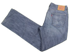 LEVIS Blue Jeans 514 36x33 Straight Stretch Cotton Denim Poly Medium Whiskering