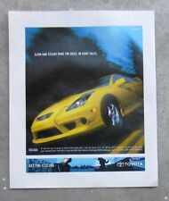 TOYOTA CELICA GT-S 2002 Auto Magazine Page Sales Advertisement Brochure T230 1.8