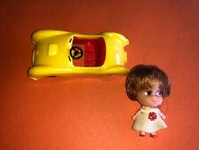 Vintage Original Mattel Little Kiddles doll with car 1966-1967