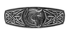 Celtic Horse Shoe Artisan Made Pewter Barrette Hair Clip by Oberon Design