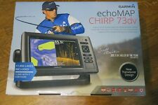 NEW Garmin EchoMap CHIRP 73dv Preloaded LakeVu HD DownVu Sonar Marine GPS FS