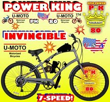 66cc/80cc 2-Stroke Motorized Bike Kit And 26� Cruiser Bike Diy Powerful Bicycle