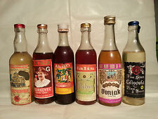 Liquori lotto di 6 mignon paesi dell'Est Europa Slivovka Viniak Pelinkovec