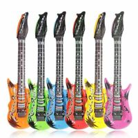 4 Large Inflatable Blow Up Guitars Fancy Dress Party Musical Disco Rock Prop Toy