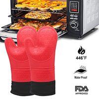 Oven Mitt Gloves Non-Slip Grip Pot Holders Kitchen Oven BBQ Grill Cooking Baking