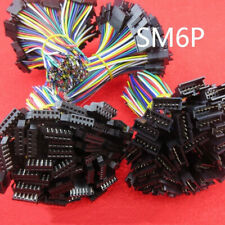 10 sets JST 2.54 SM 6-Pin 6P Connector plug Male & Female with 10cm Wires Cables