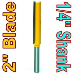 """1 pc 1/4"""" SH 2"""" Extra Long Straight Router Bit S"""
