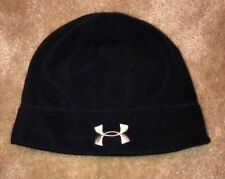 Under Armour Youth One Size Ski Snow Winter Beanie Hat Black Lined