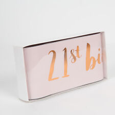 Luxury Rose Gold & Pink 21st Birthday Sash For Her