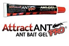 AttractANT PRO Ant Bait Gel 50g Squeeze Tube Indoxacarb - Use Indoors & Outdoors
