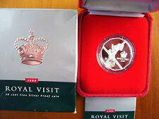 "2000 50 cent Silver Proof Coin : ""Royal Visit."""