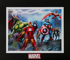Defenders-Marvel Fine Art Limited Edition Lithograph-Avengers,Nick Fury,Falcon