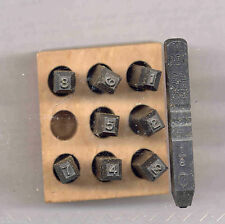 "Young Brothers Stamps Reversed Heavy Duty 1/8"" Figures handstamps"