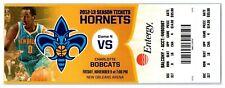 2012 New Orleans Hornets Charlotte Hornets 11/9 Ticket Ben Gordon 34pts *ST5E