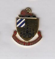 US Army 3rd Support Battalion Quartermaster Supply QM crest DUI badge G-23