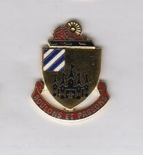 US ARMY 198th Maintenance Battalion crest DUI badge c//b clutchback G-23