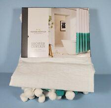 "Threshold Green White Aqua Tie Dye Shower Curtain 72"" x 72"" Target NEW"