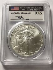 2004 American Silver Eagle PCGS MS70 signed by John Mercanti