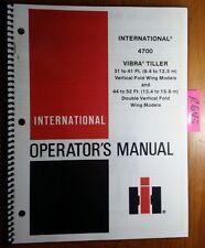 IH International 4700 Vibra Tiller 31-41' & 44-52' Vertical Fold Operator Manual