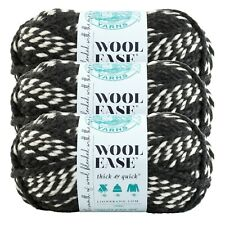 Lion Brand Yarn 640-601 Wool-Ease Thick & Quick Yarn, Hoyas (Pack of 3 skeins)