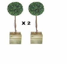 2 x Artificial 3ft Topiary Ball Tree suitable for outdoors or indoor