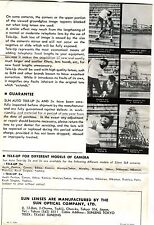 c1970 Leaflet: How to Use Sun Auto Tele-Up 2x & 3x Lenses