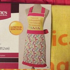 Better Homes & Gardens NWT Shopaholic Kitchen Apron Limited Edition
