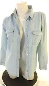 Old Navy DONNA Azzurro 100% Cotone Camicia Button Down TAGLIA S