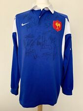 France 2003-2004 home XV signed Nike rugby shirt jersey maillot camiseta Trikot