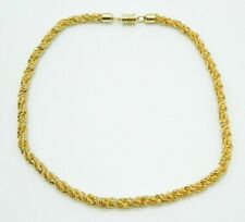 Pcraft Gold Tone Heavy Chain Link Rope Chain Necklace Vintage 1960s