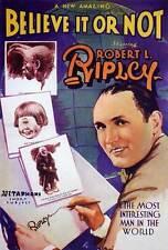 RIPLEY'S BELIEVE IT OR NOT Movie POSTER 27x40 Robert L. Ripley