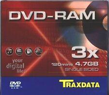 Traxdata DVD-RAM 120 Minutes 4.7 GB Single Sided Blank Disc 3x