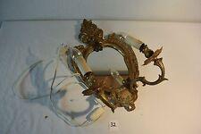C32 Authentique applique murale avec miroir Louis XVI fin XIX