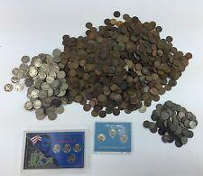 Huge lot of 12.9 lbs of old Us Pennies & Nickels. 1958 & older.