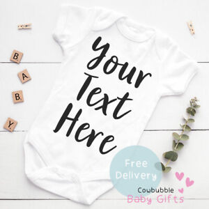 Personalised Baby Vest - New Personalised Baby Grow, Clothes With Your Text Here